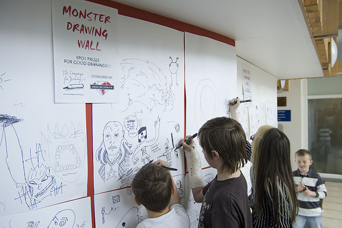 Monster Drawing Wall 2d by Matt Brooker