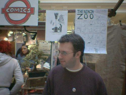 Sleazy Dan Lester at London Underground Comics - Andy Luke