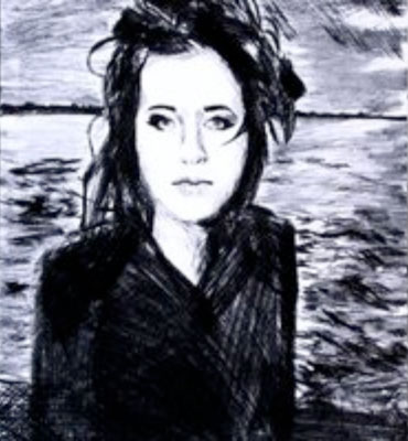 Cara Cowan by Ben - drypoint etching