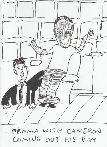20 second sketches - Obama Cameron