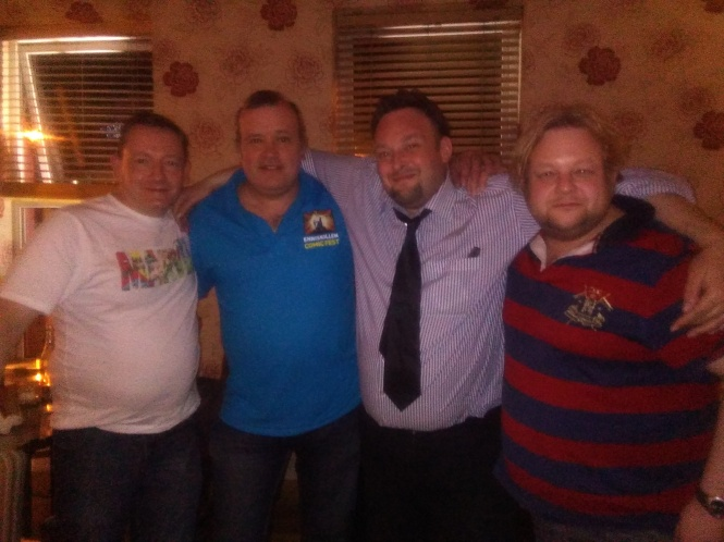 Mark Bromage, Paul Trimble, myself and Pieter Bell.